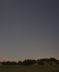 The Well Bucket as observed from Tucson, Arizona, at 5:25am (54 minutes before sunrise) on Oct 1, 2015.