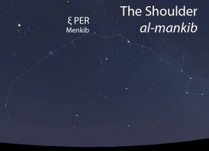 The Shoulder (al-mankib) as it appears in the west about 45 minutes before sunrise in early November.