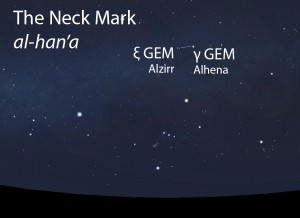 The Neck Mark (al-han'a) as it appears in the west about 45 minutes before sunrise in early December.