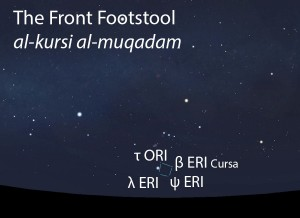 The Front Footstool (al-kursi al-muqadam) as it appears in the west about 45 minutes before sunrise in early December.