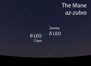 The Mane (az-zubra) as it appears in the west about 45 minutes before sunrise in early March.