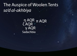 The Auspice of Woolen Tents (sa'd al-akhbiya) as it appears in the west about 45 minutes before sunrise in early August.